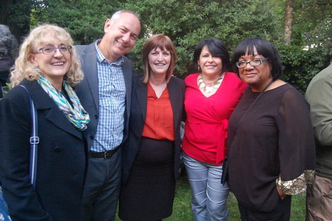 Diana Holland, Unite AGS, Rob Miller, CSC Director, Karen Lee MP, H. E. Teresita Vicente, Cuban Ambassador and Diane Abbott MP, Shadow Home Secretary