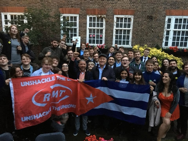 Ian Lavery MP, Dr Enmanuel Vigil and members of London Young Labour