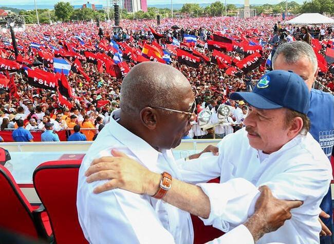Salvador Valdes Mesa, Cuban First Vice President and Daniel Ortega, Nicaragua President