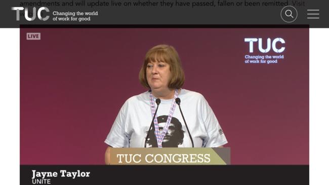 Jayne Taylor, Unite Vice-Chair