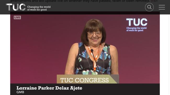Lorraine Parker Delaz Ajete, GMB Delegate
