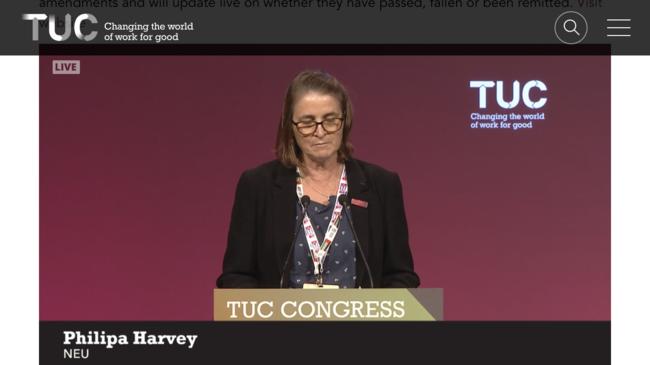 Philipa Harvey, NEU delegate