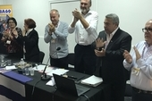 A standing ovation followed Ulises Guilarte, CTC General Secretary's speech