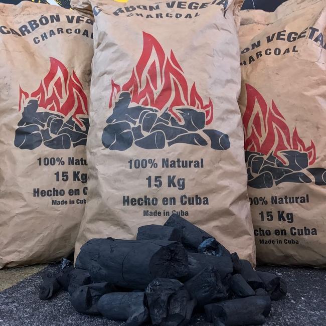 Charcoal made in Cuba from Marabu