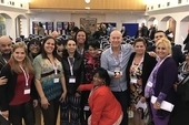 Cuba Solidarity Campaign Director Rob Miller with the CTC medal and Cuban trade union delegation at the Unions for Cuba Conference
