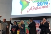Steve Turner, Unite AGS, Teresita Vicente, Cuban Ambassador, Diana Holland, Unite AGS and Enrique Santiago, Spanish MP