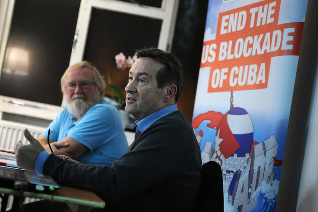 Keith Bolender in Bimingham, with Tim Hollins, Birmingham CSC Secretary. Photo Credt: Kevin Hayes