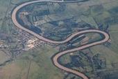 An aerial photo of Cuba's Rio Cauto