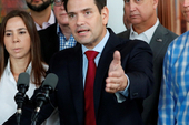 Sen. Marco Rubio, seen here discussing Latin America in 2019, is widely known in Washington as a major force behind the president's policies in the region. | Wilfredo Lee/AP Photo