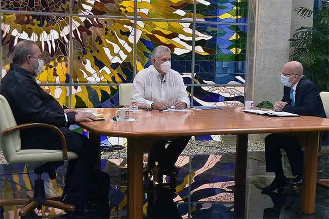 The Cuban president announcing the new measures on national TV on 8 October