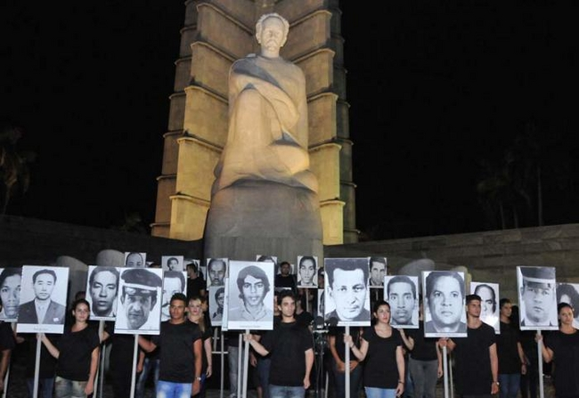 A vigil in Havana to remember Cuban victims for terrorism