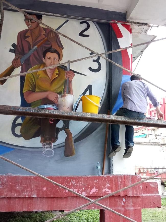Restoring the mural
