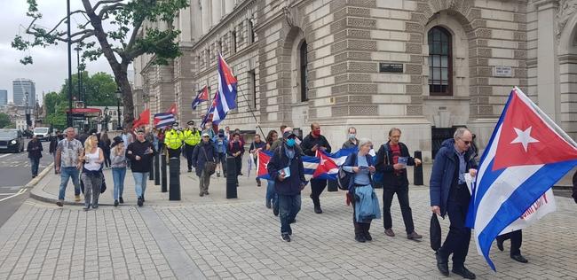 Walking up Whitehall