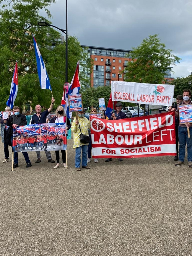 CSC supporters in Sheffield city centre