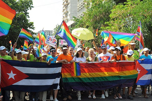 Cubans taking part in International Day Against Homophobia celebrations